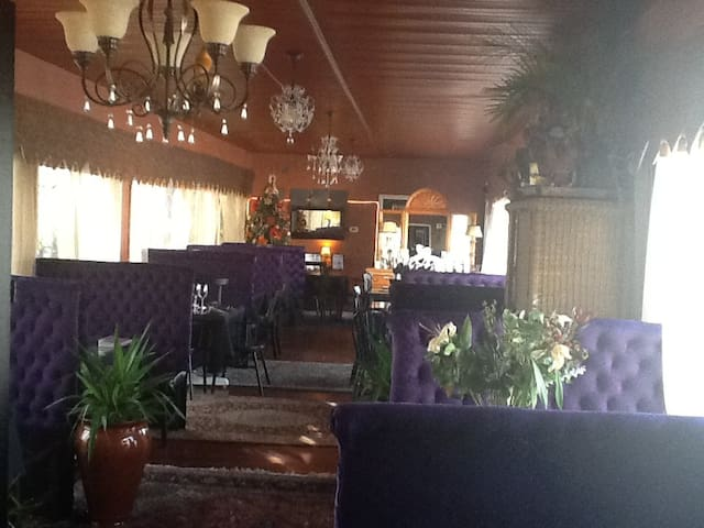 Breakfast is served in our Club Car Dining Room