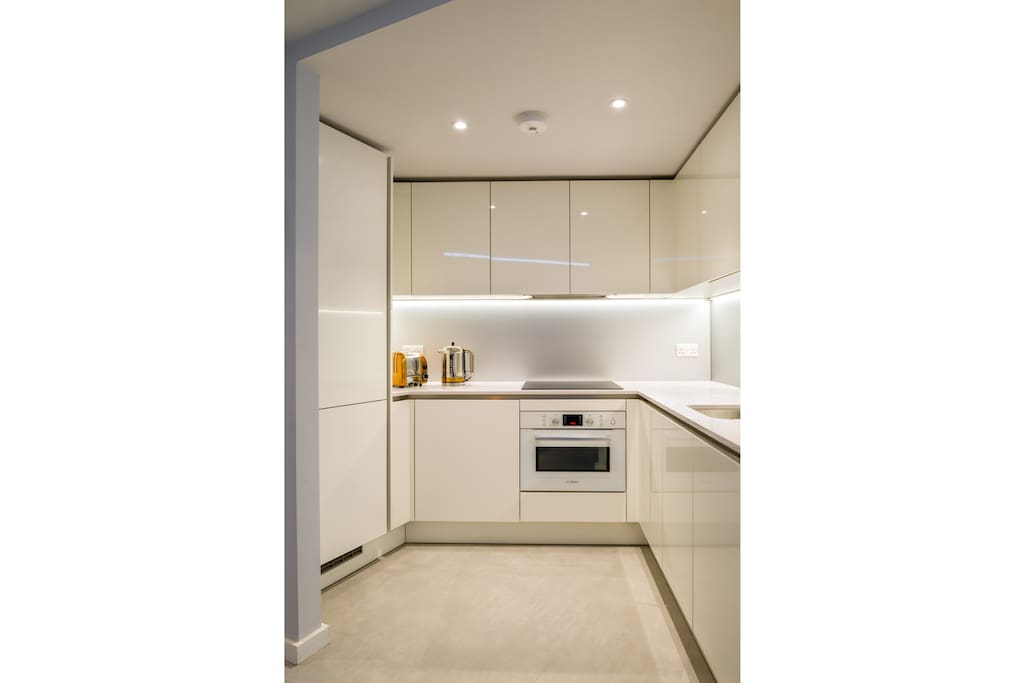 Kitchen includes washer drier, cooker and fridge freezer