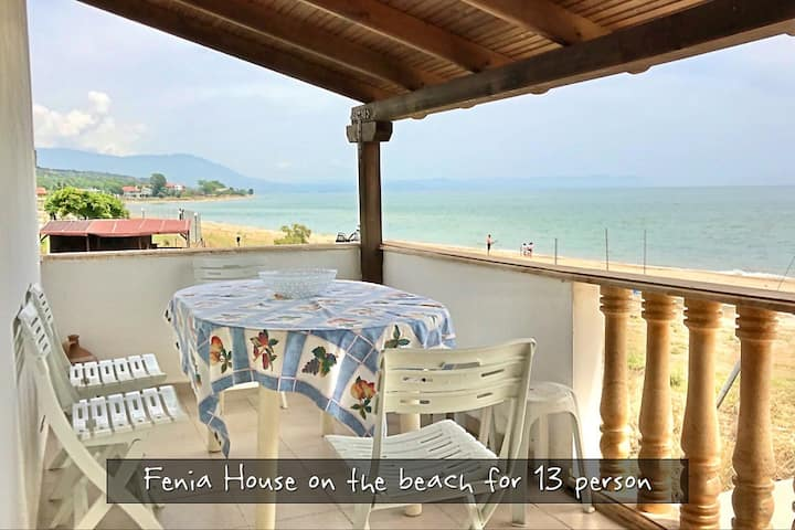 Fenia House on the beach for 13 person