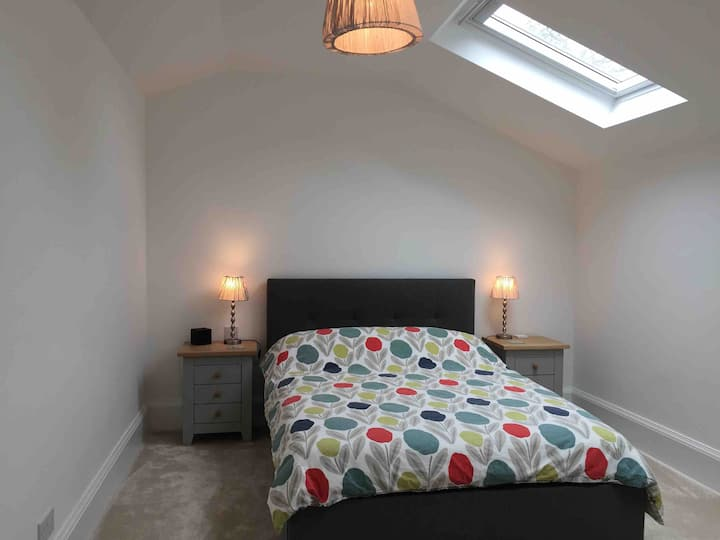 Comfortable private double bedroom and bathroom