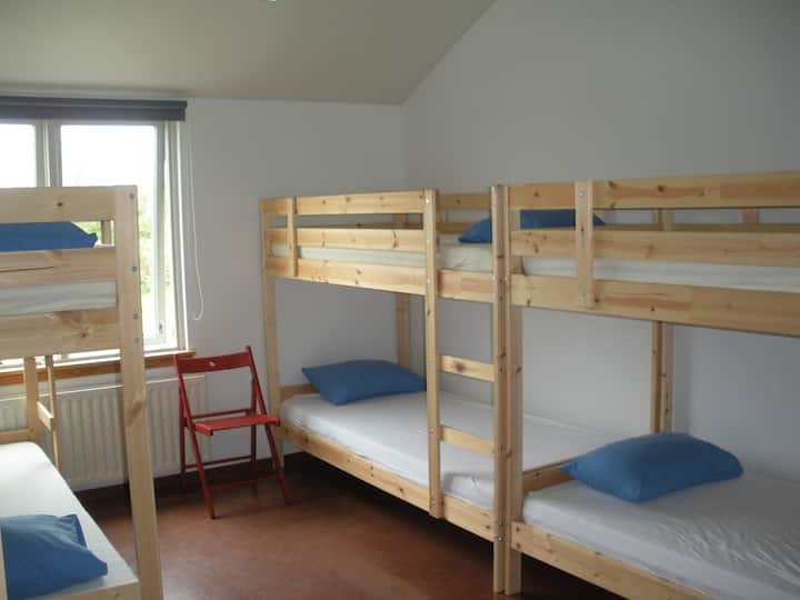 A bed in a 6 Bed Dormitory Room in Lava Hostel
