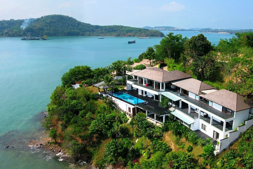 Hollywood oceanfront super villa villas for rent in ao makham phuket thailand - Villa de luxe phuket kplusk ...