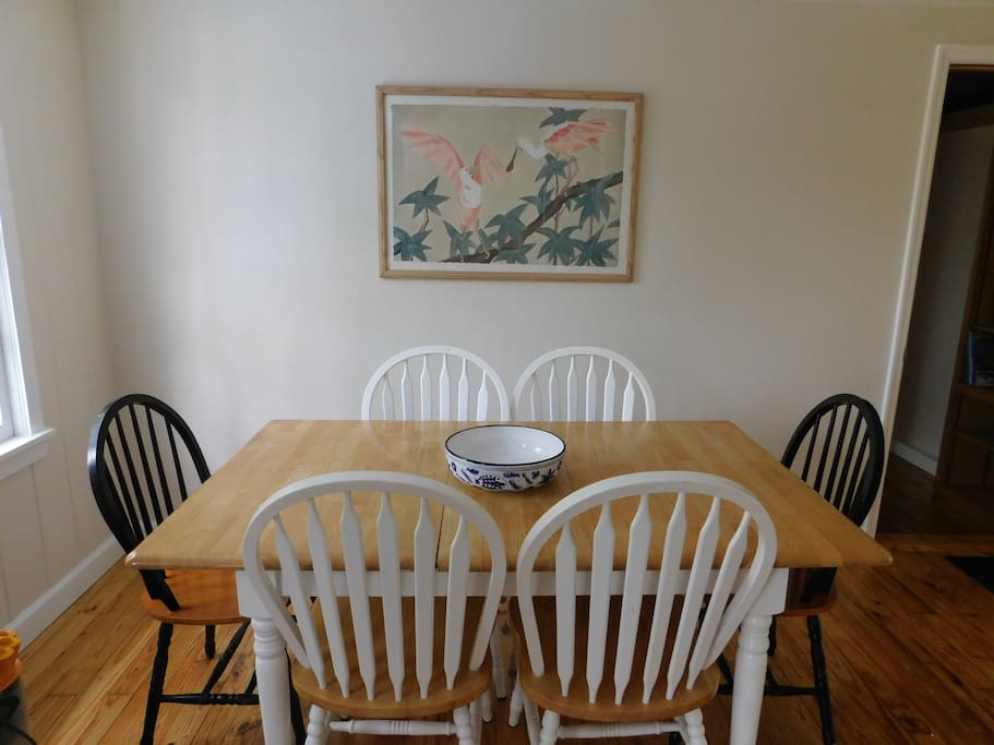Kitchen table with seating for 6