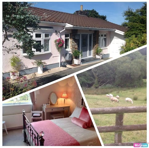 Beautiful bedroom and private lounge Saundersfoot.