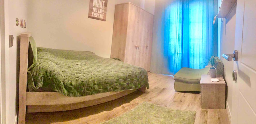 Panoramic photo of your bedroom