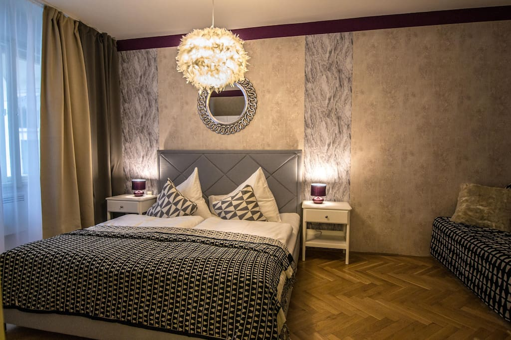 2nd door with a big queen bed and convertible sofa, if you need addtional sleeping space for 2 people