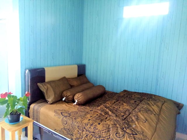 Blue Vintage Room at Rumah Sakok