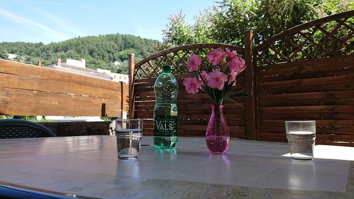 Studio au calme, clim, terrasse privée