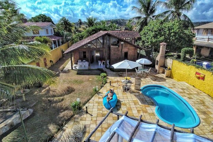 Casa beira mar no Paraíso de Tabuba