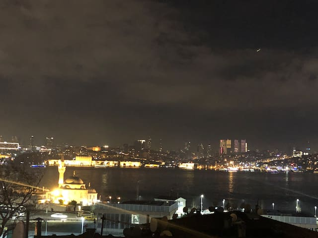 The Bosphorus from the Comfy Apartment