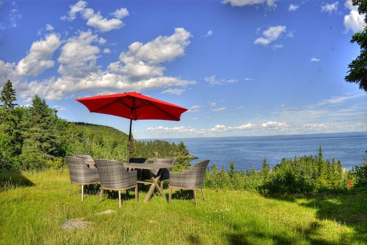 Villa les 2 Iles - Chalets Spa Canada -Plage Privé
