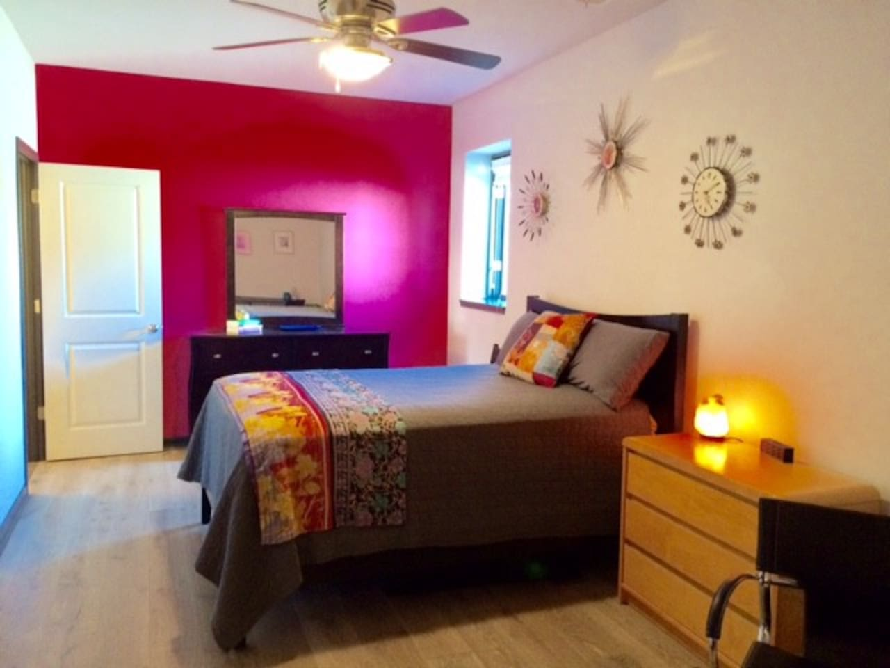 Large bright bedroom with private bath!