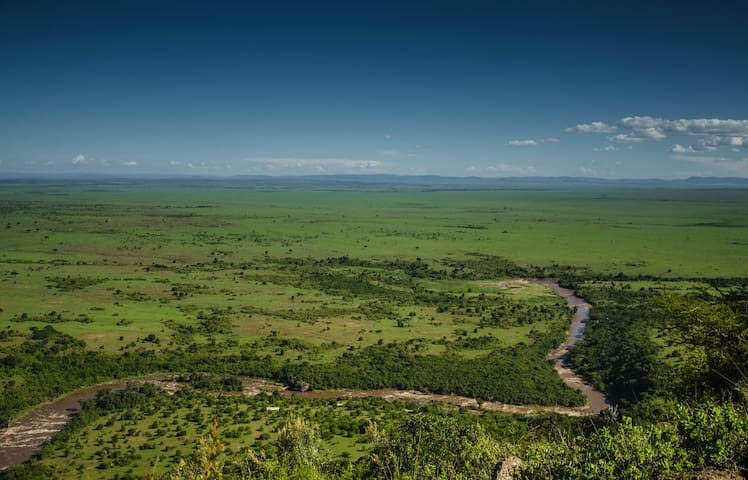 Breathtaking View of the Mara River in the famous Masai Mara National Reserve