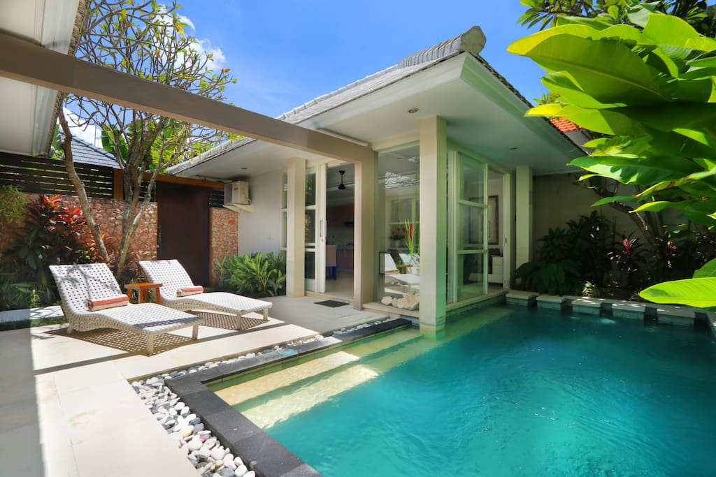 Private sunfilled pool area