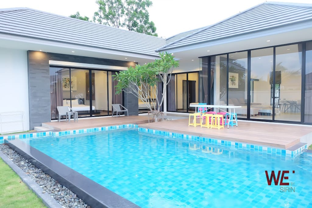 We by sirin pool villa hua hin villas for rent in tambon for 8 villas hua hin