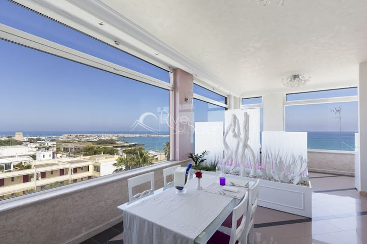 Open space Sky con vista mare a San Foca - San Foca - Appartement