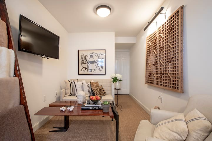 Modern English Basement in Georgetown Row House