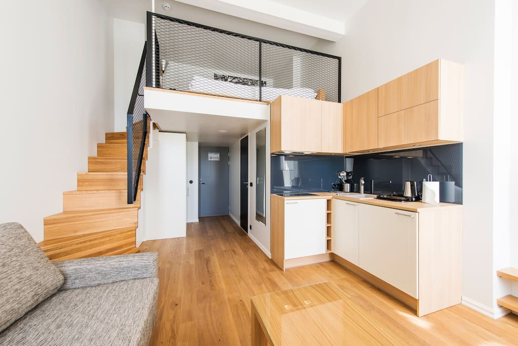 The luxury flat is self-contained and includes your own modern kitchen