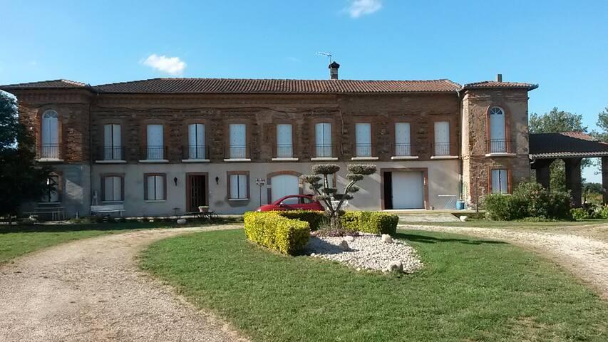 Chambre privée dans maison de campagne