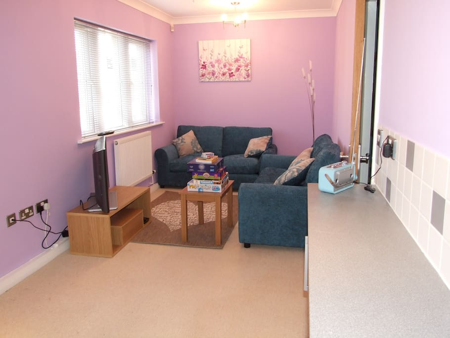 Front room with freeview tv
