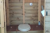 Inside the eco toilet, (Weehoose).