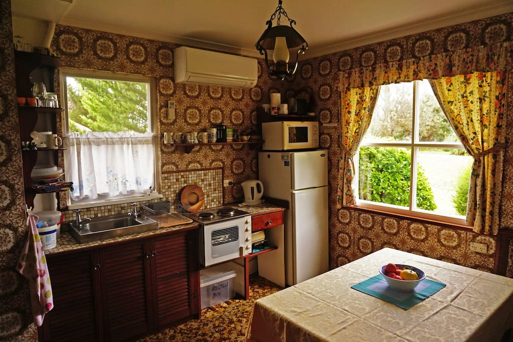 Imagine enjoying your delicious breakfast in the quaint original German tudor kitchen.