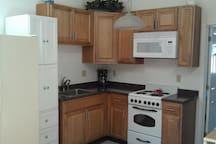 Completely remodeled kitchen fully stocked with everything you'll need