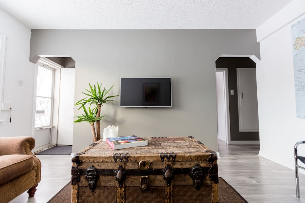 """42"""" LED Flat Screen TV to watch movies or your favorite TV series on."""