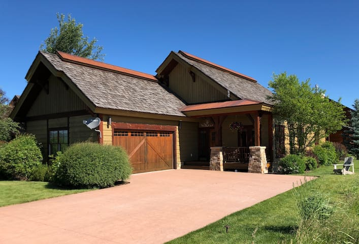 Beautiful  custom home with views, golf, and midway between Jackson Hole and Grand Targhee