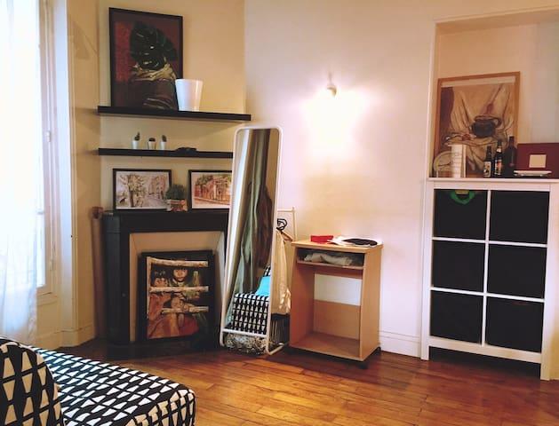 Cozy shared studio in Paris 19rd district