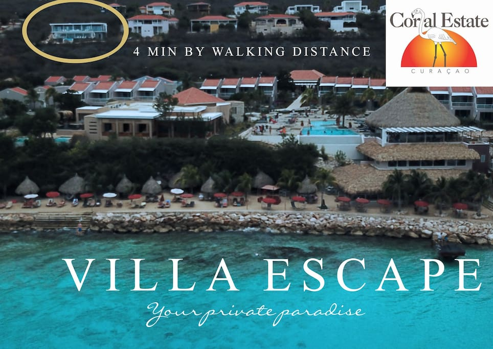 Villa Escape - amazing location 4 min by walk from Coral Estate Resort center and beach , in total privacy.
