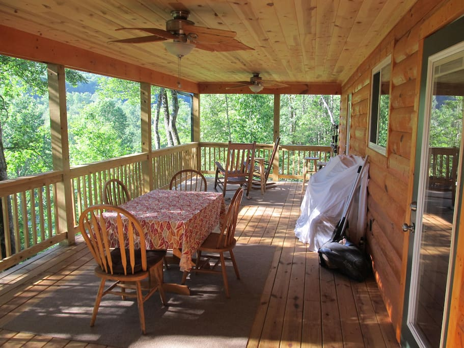 Private covered deck!