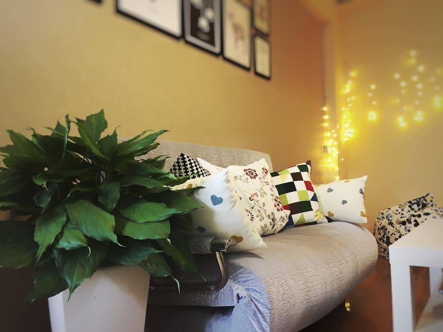 沙发可变为双人床sofa-bed