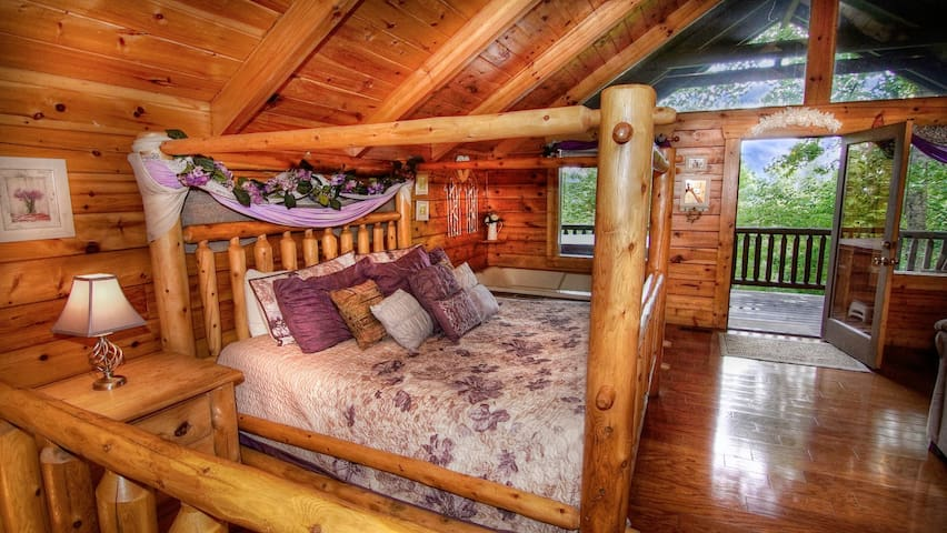 Alpine Dreams - A cozy cabin built for romance in the Smoky Mountains.