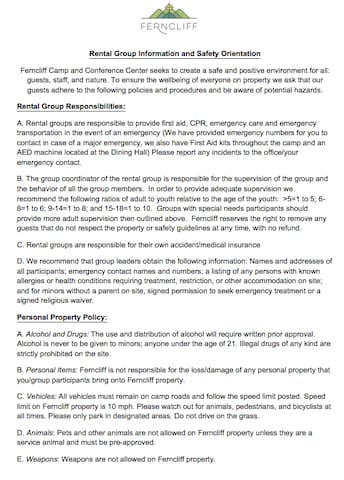Rental Group Agreement