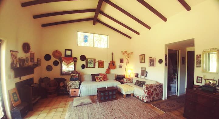 Rustic Boho Oak Forest Retreat