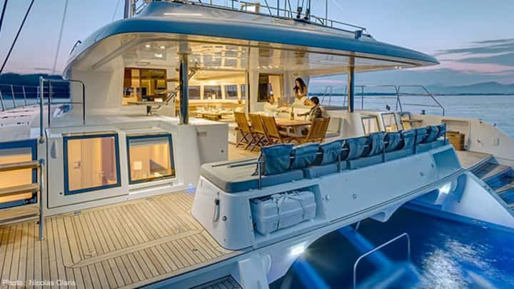 luxury catamaran with 3 private bedrooms
