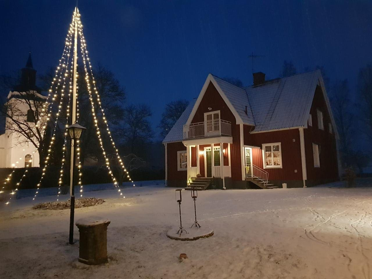 Large rectory villa in traditional Swedish style right beside beautiful church