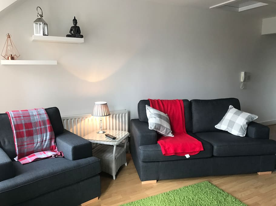 Newly decorated living area