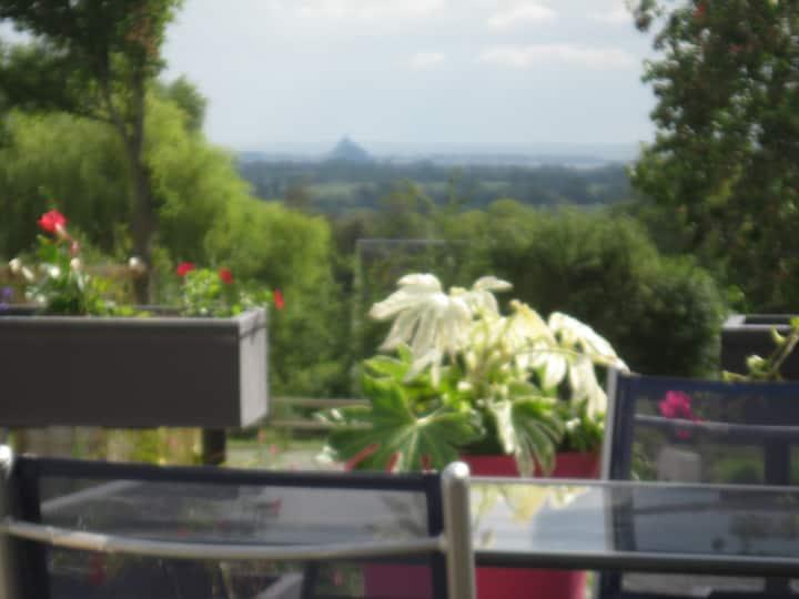 Gîte avec vue sur Mont Saint Michel