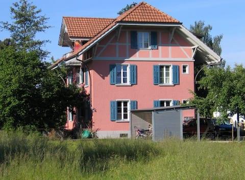 Rosa-Haus im Grünen