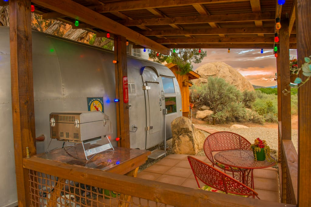Gas barbecue and night lights and outside heater to enjoy dinner on the patio watching the beautiful sunsets.