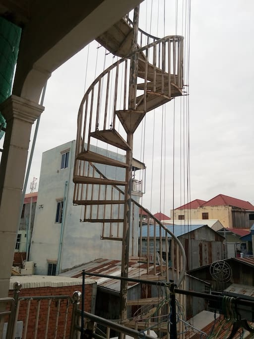 Vue depuis 1er étage où l'hôte habite