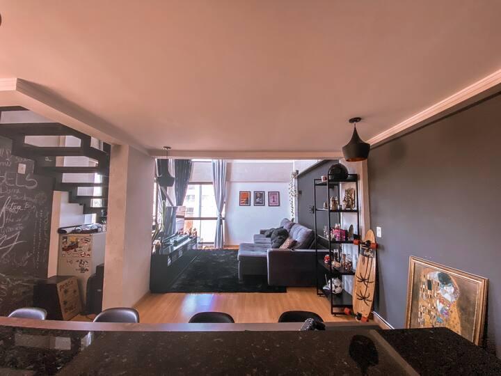 Loft moderno, mobiliado, aconchegante, e de estilo