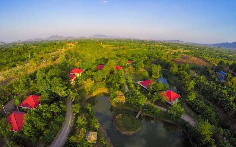 Afslappende Eco Resort i NW Cambodj