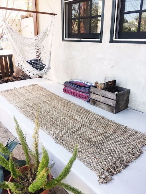 Mexican blankets and wood to keep you warm as you star gaze