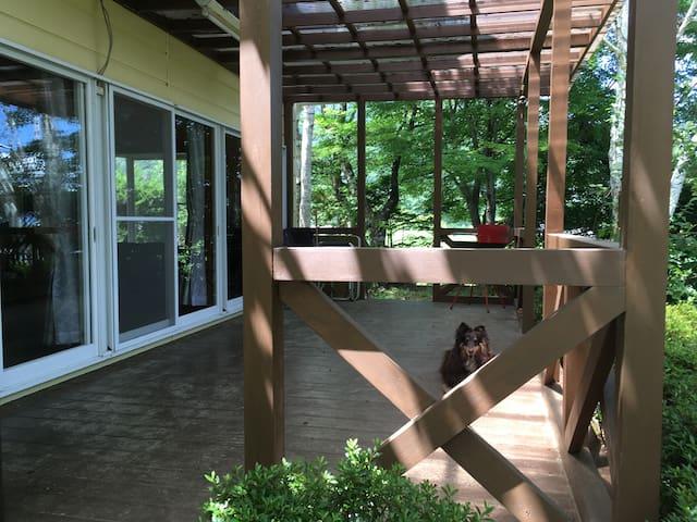 The wooden deck  ウッドデッキ