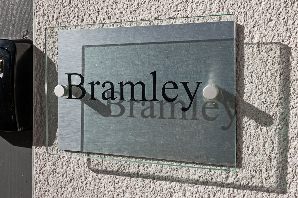 Sign Outside Bramley Apartment