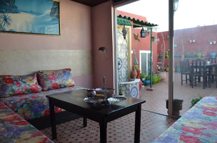 Maison traditionnelle  au coeur de la médina rabat