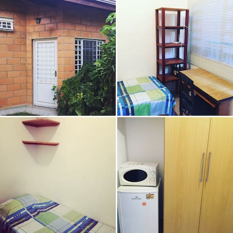 Small well-equipped room with private bathroom - Campinas - Maison